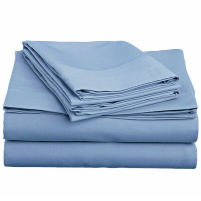 Off To Bed 6 Piece Comfort Deep Pocket Sheet Set Size: King, Colour: Serenity Blue