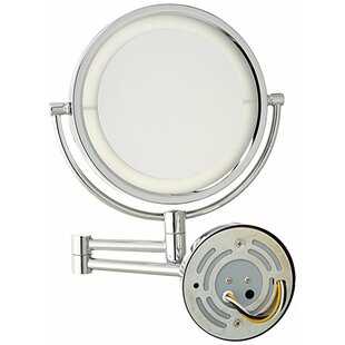 Look for Contemporary LED Lighted Direct Wire Wall Mount Makeup/Shaving Mirror By Symple Stuff