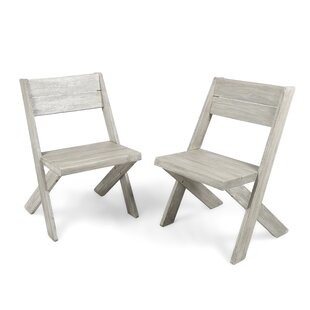 Indoor Farmhouse Solid Wood Dining Chair (Set of 2) by Bay Isle Home