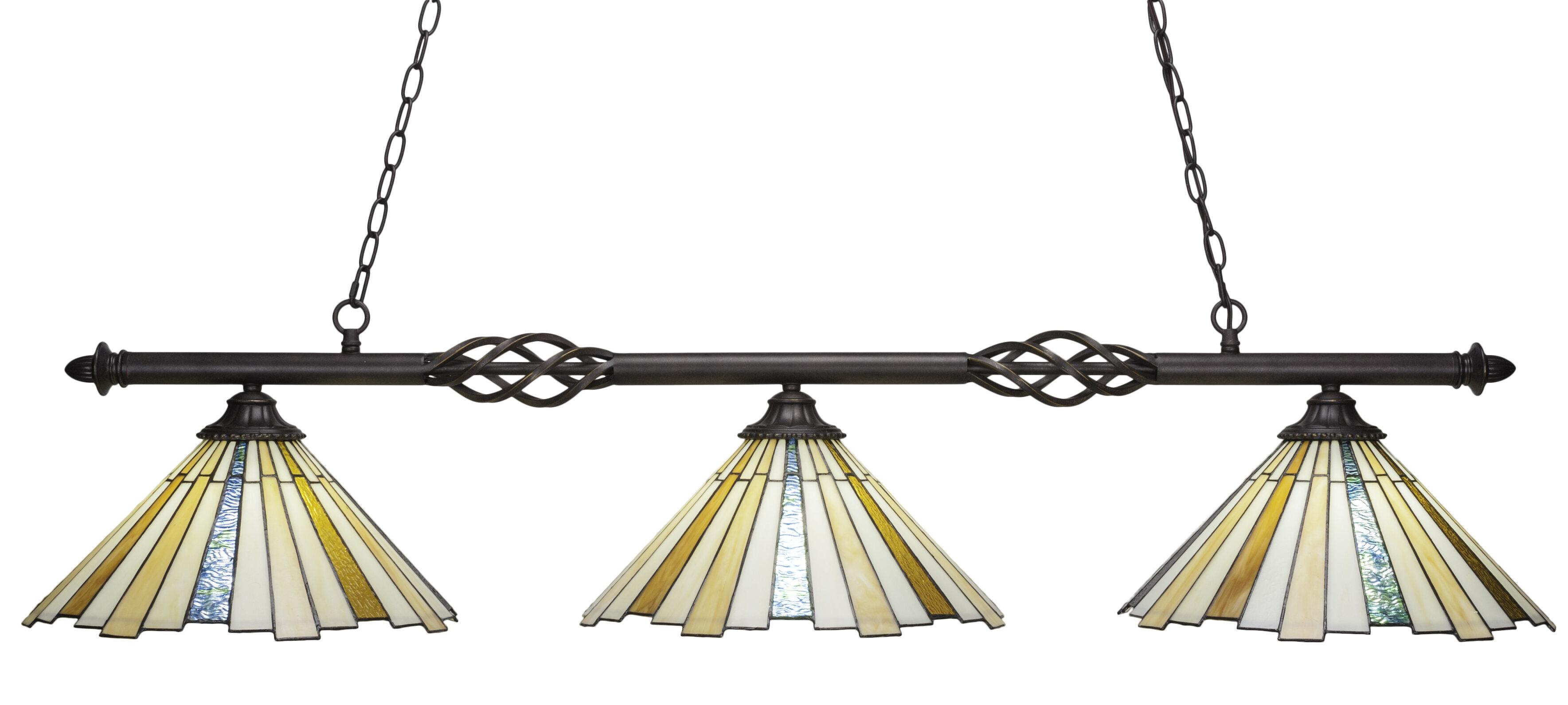 Astoria Grand Weathers 3 Light Pool Table Linear Pendant Wayfair