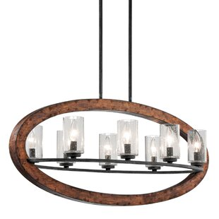 Laurel Foundry Modern Farmhouse Christenson 8-Light Kitchen Island Pendant