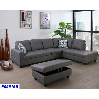 Superb Andover Mills Russ Sectional With Ottoman Orientation Right Alphanode Cool Chair Designs And Ideas Alphanodeonline