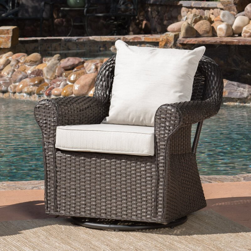 Cecilio Outdoor Swivel Rocking Chair