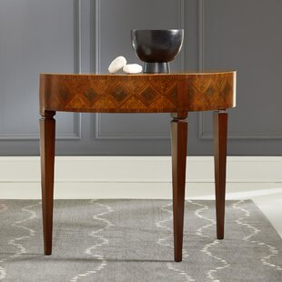 Marquetry Half Round Console Table by Modern History Home