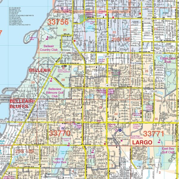 Zip Code Map Of Pinellas County on