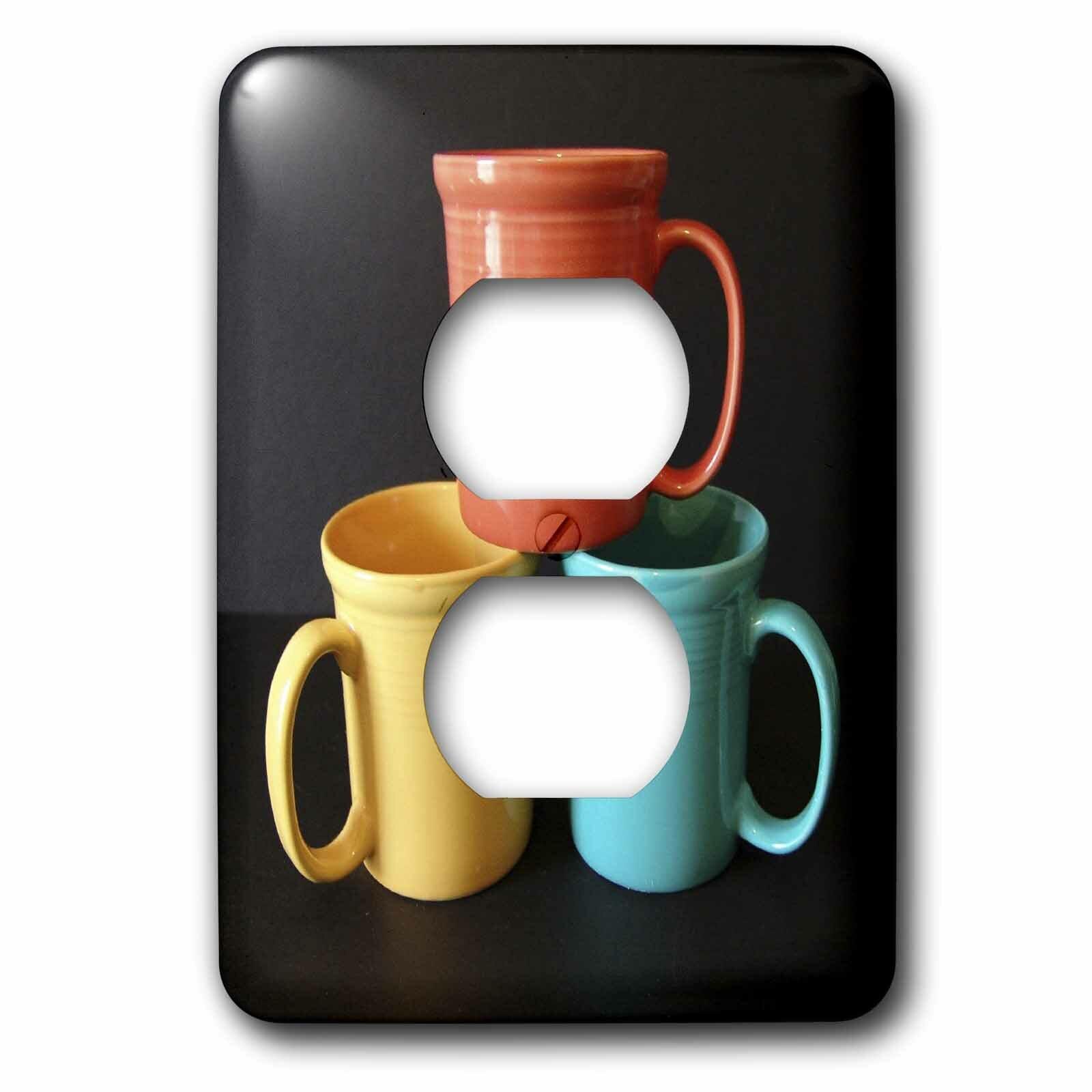 3drose Tea Or Coffee 1 Gang Duplex Outlet Wall Plate Wayfair
