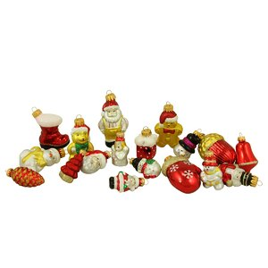 18 Piece Snowman, Santa, Nutcracker and Gingerbread Figure Christmas Ornament Set