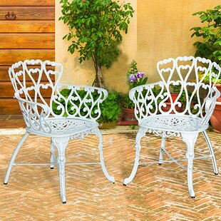 Shop For Victorian Patio Dining Chair (Set of 2) Great buy