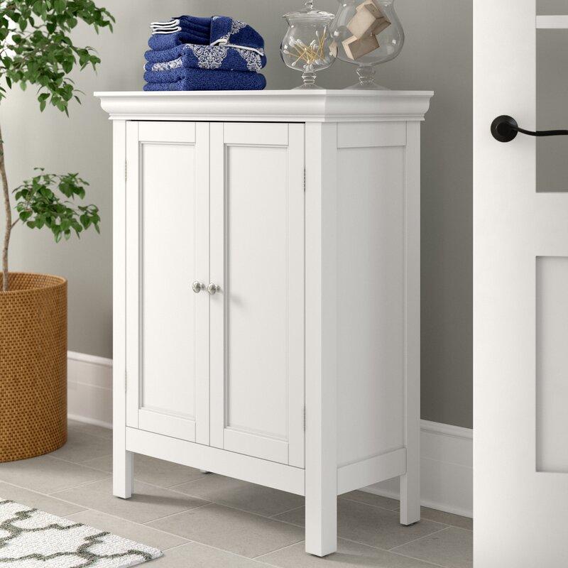 Three Posts Nantwich 26 W X 34 H X 13 D Free Standing Bathroom Cabinet Reviews Wayfair