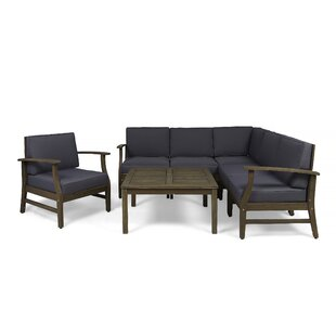 Bridgers Outdoor 7 Piece Sectional Seating Group with Cushions