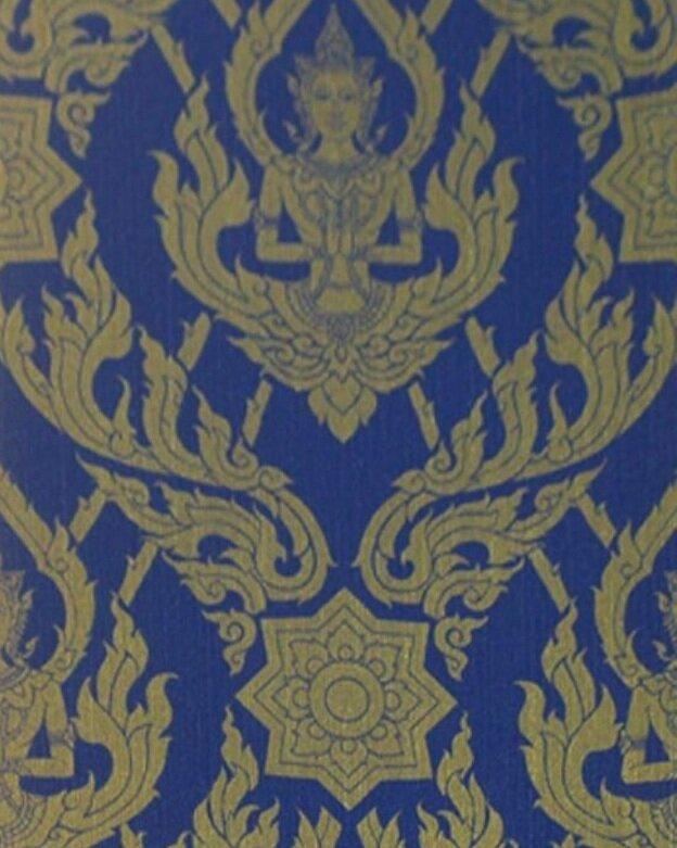 "World Menagerie LosPalmos Thai Buddah 33 L x 20.5"" W Wallpaper Roll"