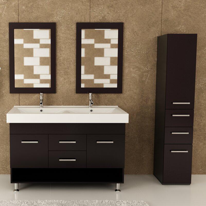 double bathroom vanity set. Rigel 48  Double Bathroom Vanity Set JWH Living Reviews Wayfair