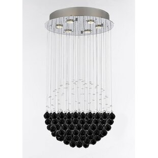 Orren Ellis Wells Modern Raindrop 6-Light Chandelier