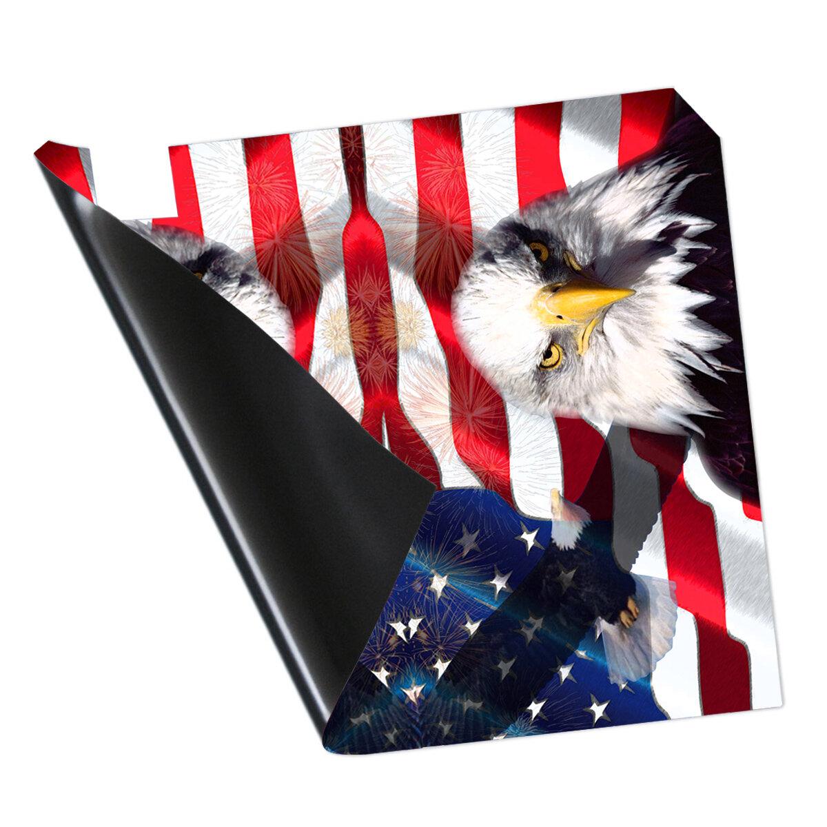 MBM22 VWAQ 4th of July Mailbox Covers Magnetic American Flag Eagle USA Patriotic Mailbox Decorative