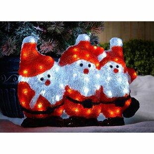 LED 3D Christmas Santa Figurine By The Seasonal Aisle