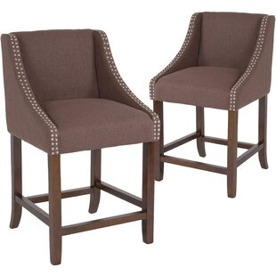 Beau 24 Bar Stool (Set of 2) Alcott Hill
