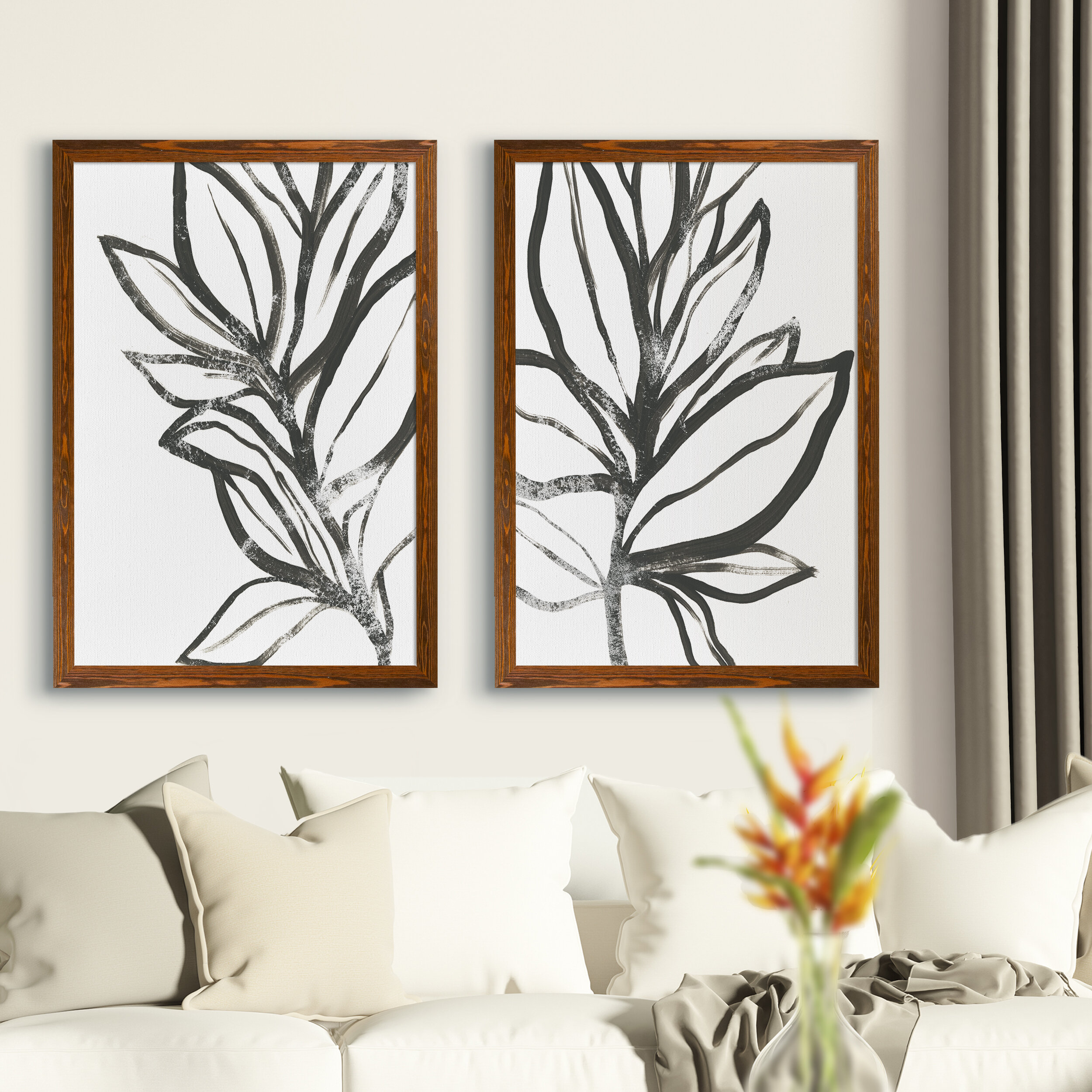 Latitude Run Leaf Instinct I By Vincent Van Gogh 2 Piece Picture Frame Painting Print Set Reviews Wayfair