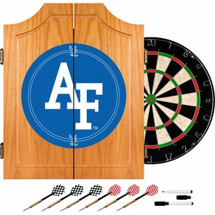 Air Force FalconsT Wood Dart Cabinet Set by Trademark Global