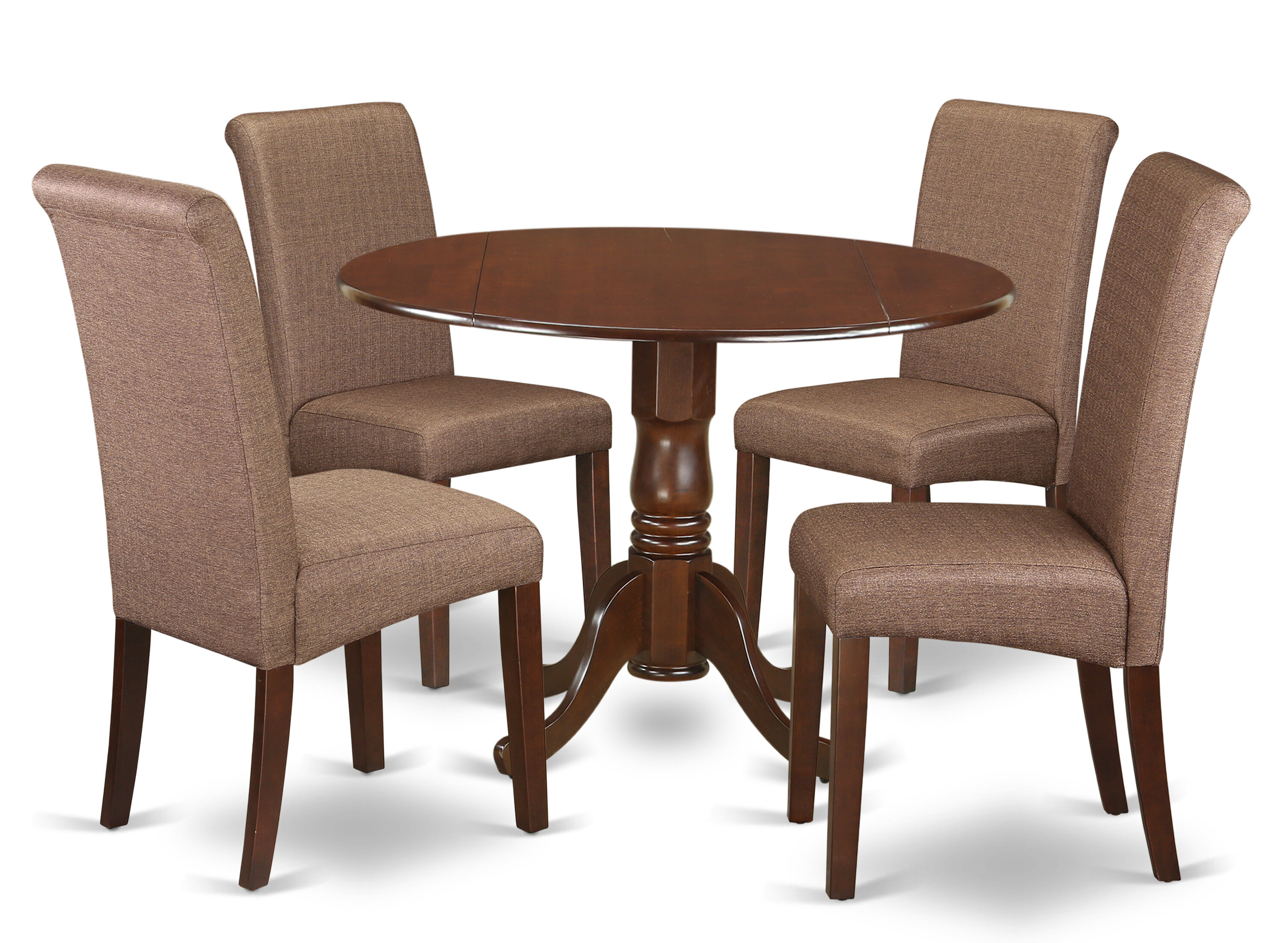 Charlton Home® Parise Small Table 5 Piece Drop Leaf Solid Wood