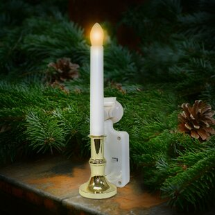 Carolite Pro Solar Holiday Flameless Window Candle Set Of 2