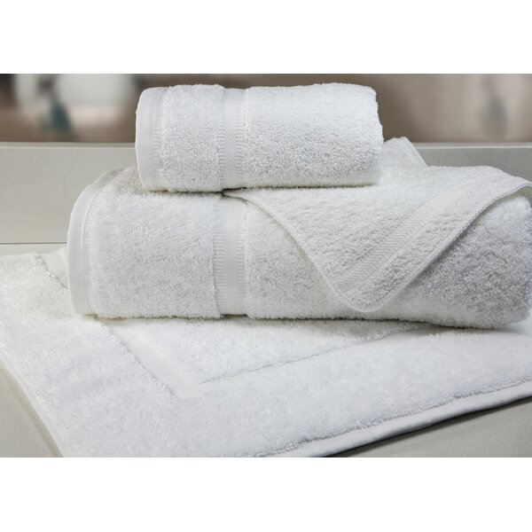 Destination Home by Hilton Dobby Border 100% Cotton Washcloth