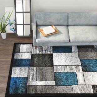 Bennet Turquoise/Gray Indoor/Outdoor Area Rug