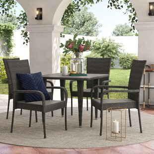 Brayden Studio Gunning Outdoor 5 Piece Dining Set