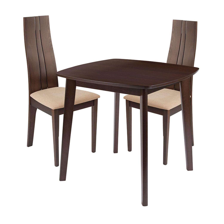 Ebern Designs Annora 3 Piece Solid Wood Dining Set Wayfair