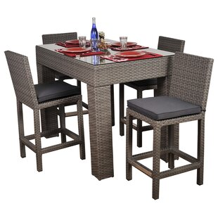 Wrisley 5 Piece Bar Height Dining Set by Beachcrest Home Cheap