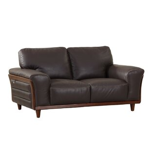 Latitude Run Towle Leather Loveseat