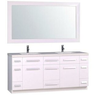 Arnette 72 Double Bathroom Vanity Set with Mirror by Mercury Row