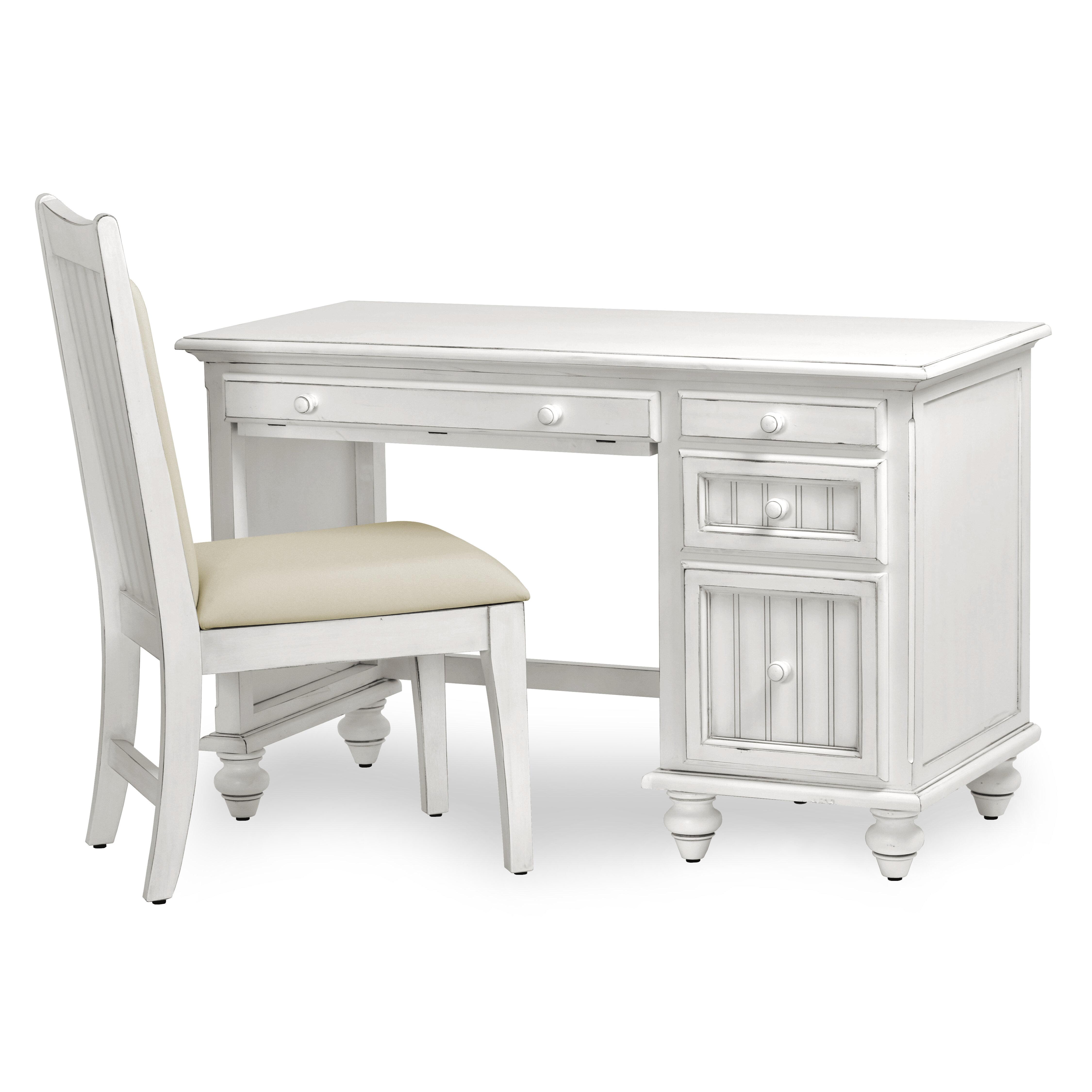 Image of: Highland Dunes Kolya Desk And Computer Desk Chair Set Wayfair