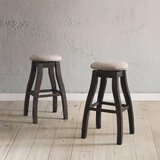 Kenworthy Backless 30 Swivel Bar Stool (Set of 2) by Three Posts