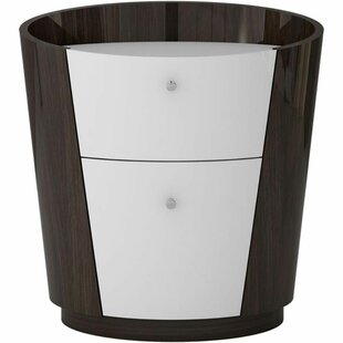 Boise Wooden 2 Drawer Nightstand by Latitude Run
