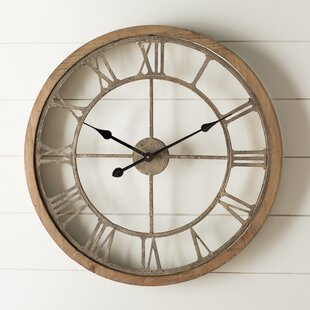 fresh idea whimsical clocks. Natural Wood Wall Clock Analog Clocks You ll Love  Wayfair