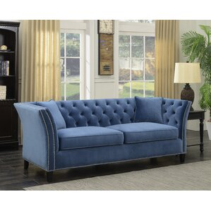 Roberge Tufted Wingback Chesterfield Sofa by Willa Arlo Interiors