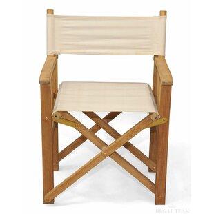 Longshore Tides Castrejon Premium Teak Folding Director Chair