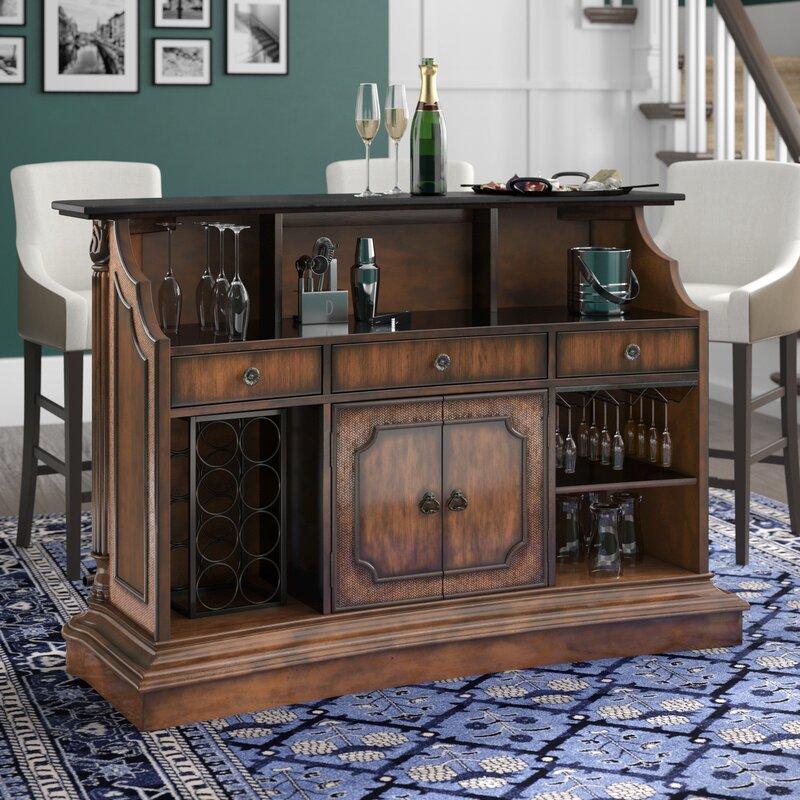 Darby Home Co Bar avec rangement pour bouteilles de vin Ansel et Commentaires | Wayfair.ca
