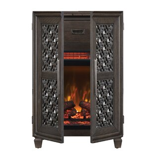 Wine Cabinet Electric Fireplace by Twin Star Home