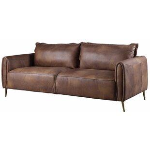 Bordelon Leather Sofa by Williston Forge
