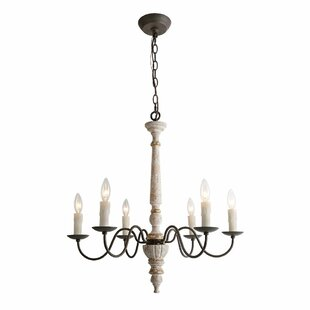 Teme Wood 6-Light Candle Style Chandelier by Ophelia & Co.
