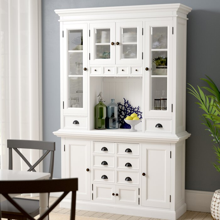 Beachcrest Home Amityville Kitchen China Cabinet Reviews Wayfair