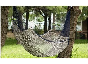 Unique Rope Nylon Camping Hammock by Novica Modern