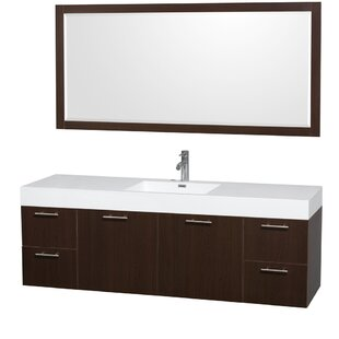 Compare Amare 72 Single Espresso Bathroom Vanity Set with Mirror By Wyndham Collection