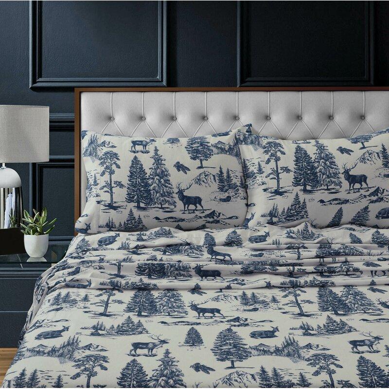 The Holiday Aisle Deaton Heavyweight Extra Deep Pocket 100 Cotton Flannel Sheet Set Reviews Wayfair