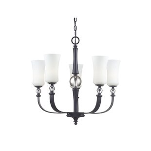 Winston Porter Vergara 5-Light Shaded Chandelier