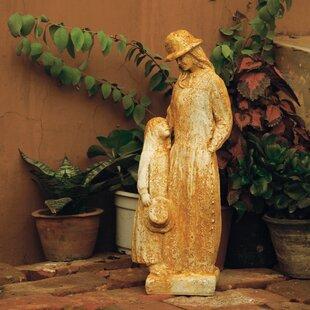 OrlandiStatuary Children Girl Talk Outdoor Statue