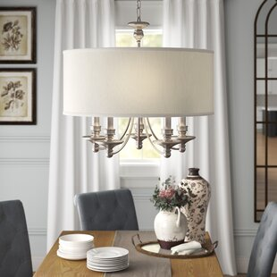 Antigua Matte Nickel 5-Light Drum Chandelier