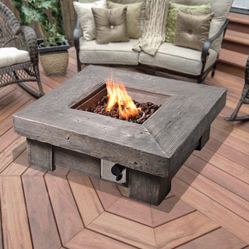 Ordinaire Retro Stone Propane Fire Pit Table