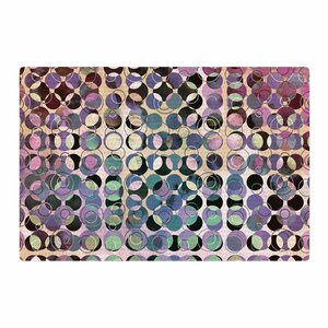 Pia Schneider Melange of Circles III Pink/Purple Area Rug